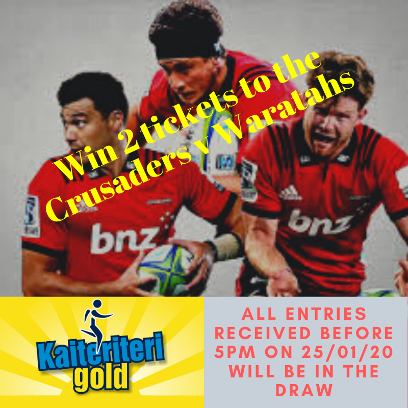2 Tickets For The Crusaders Game On 1st Feb Are Up For Grabs!